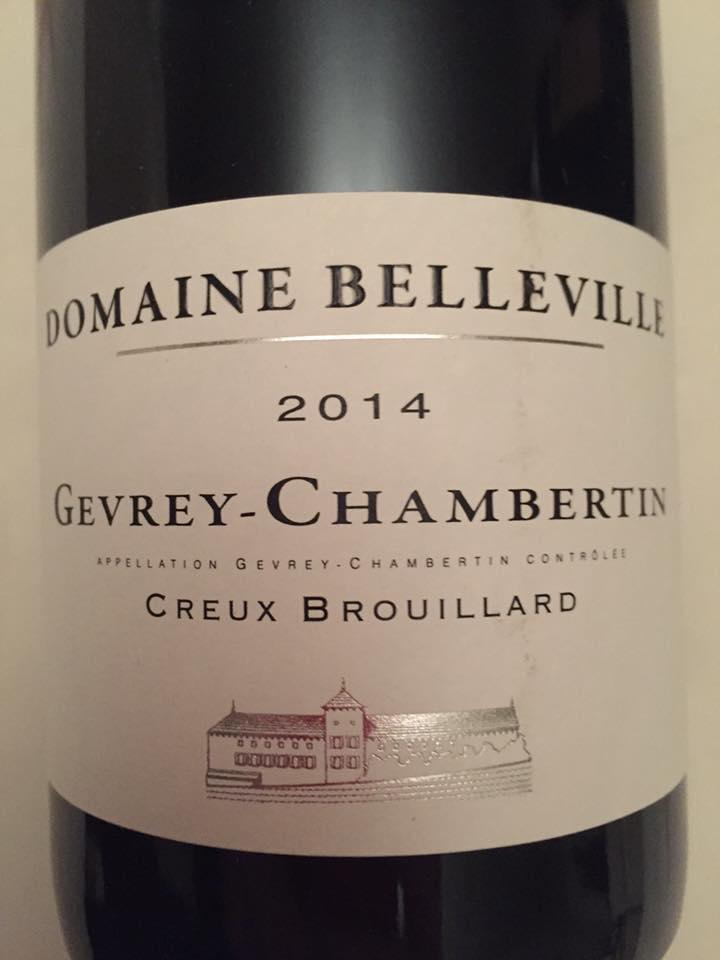 Domaine Belleville – Creux Brouillard 2014 – Gevrey-Chambertin
