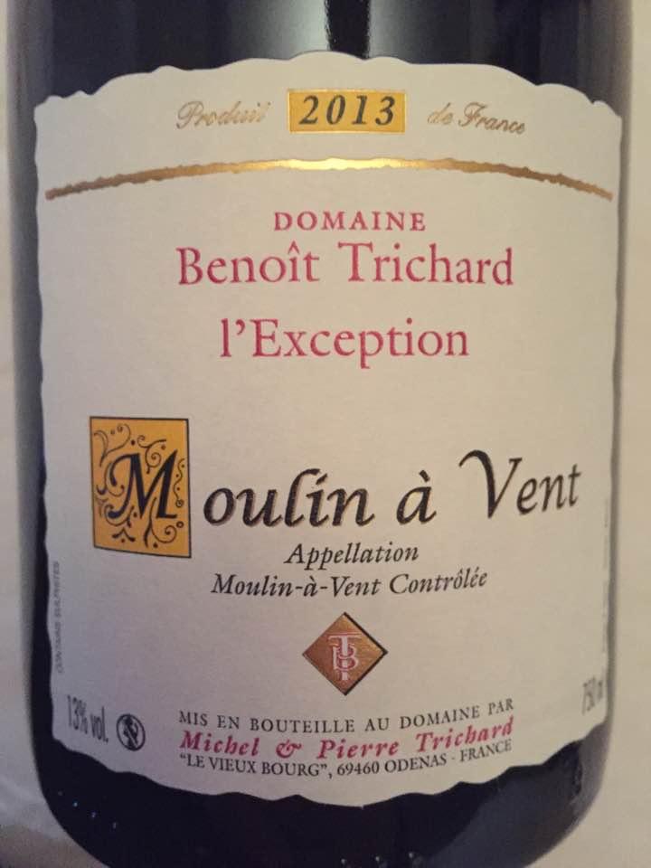 Domaine Benoit Trichard – L'Exception 2013 – Moulin-à-Vent