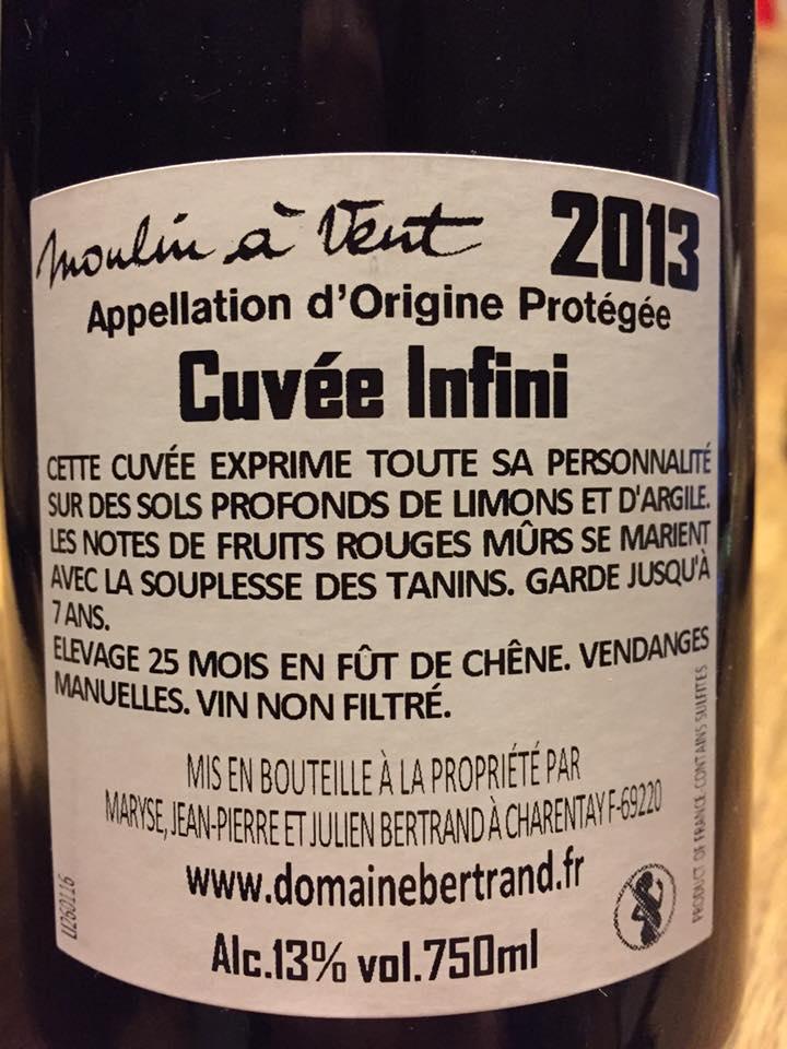 Domaine Bertrand – Cuvée Infini 2013 – Moulin à Vent
