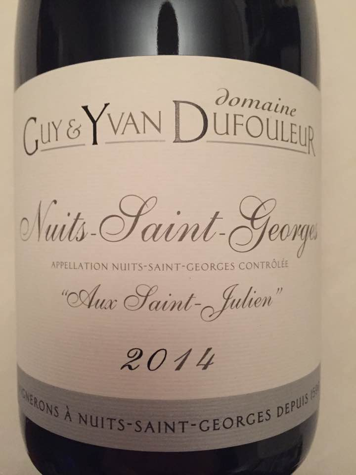 Domaine Guy & Yvan Dufouleur – Aux Saint-Julien 2014 – Nuits-Saint-Georges
