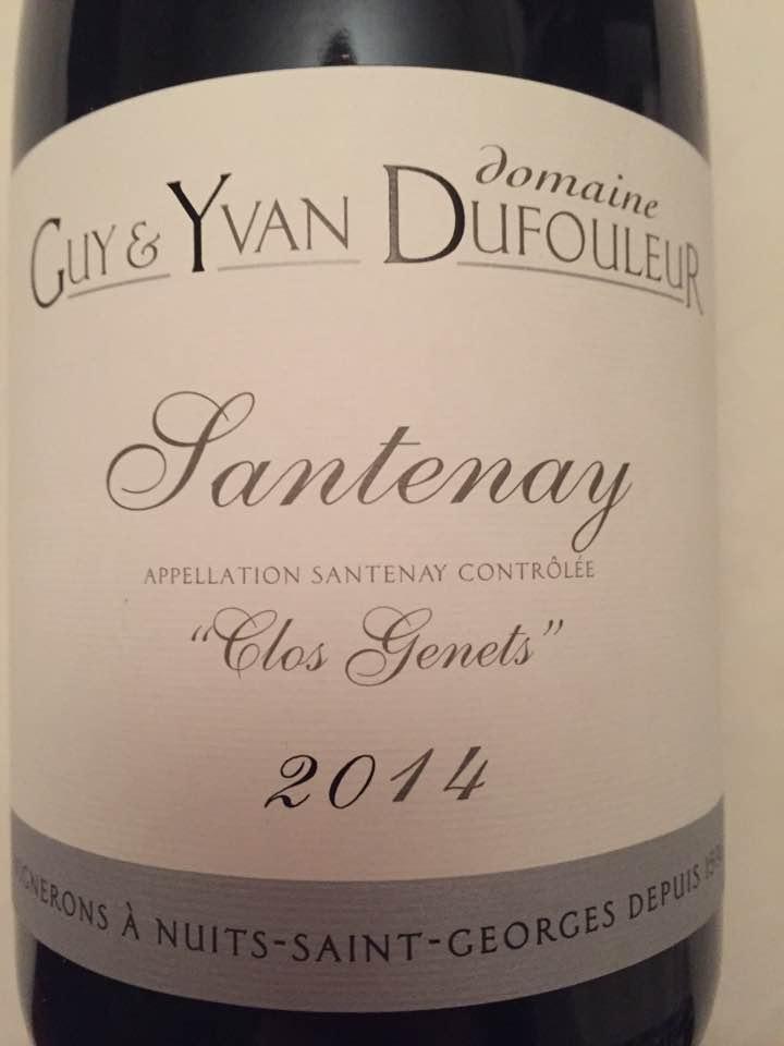 Domaine Guy & Yvan Dufouleur – Clos Genets 2014 – Santenay