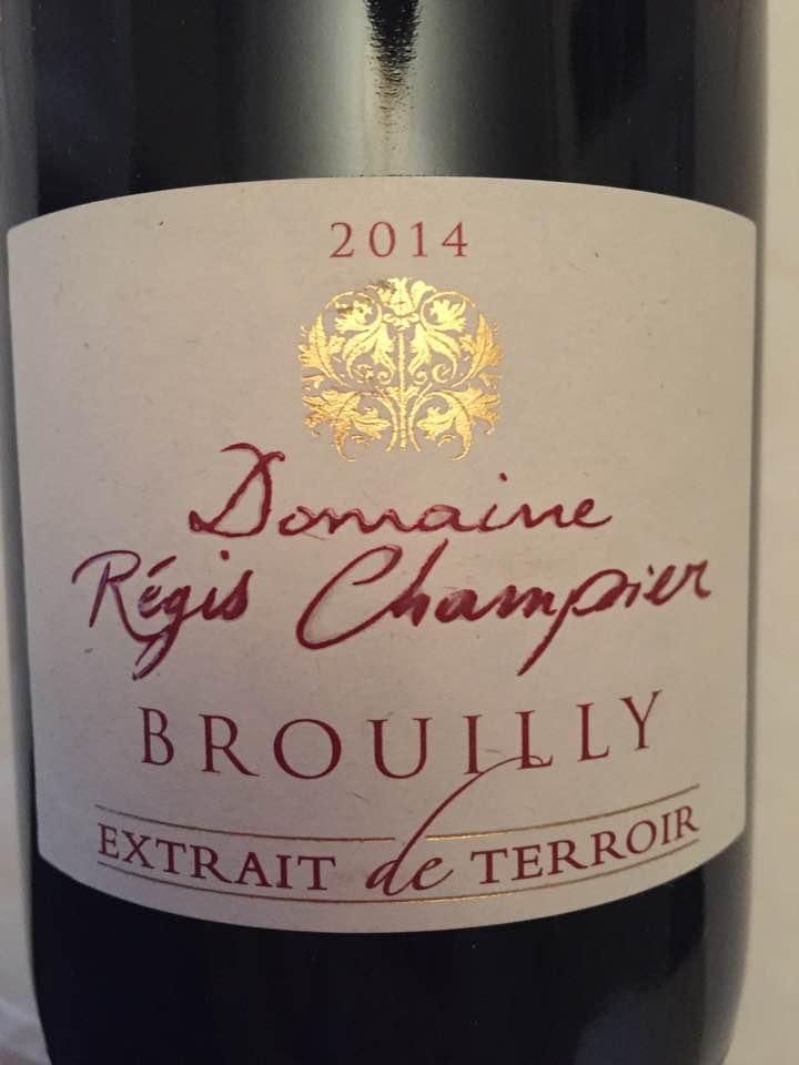 Domaine Régis Champier – Extrait de terroir 2014 – Brouilly