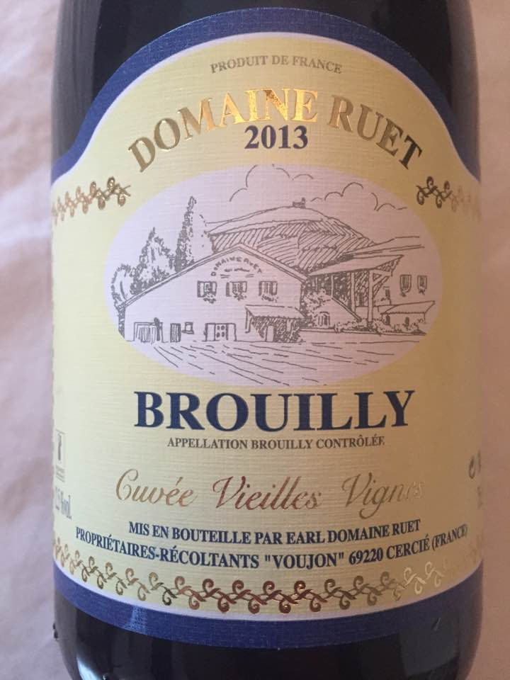 Domaine Ruet – Cuvée Vieilles Vignes 2013 – Brouilly