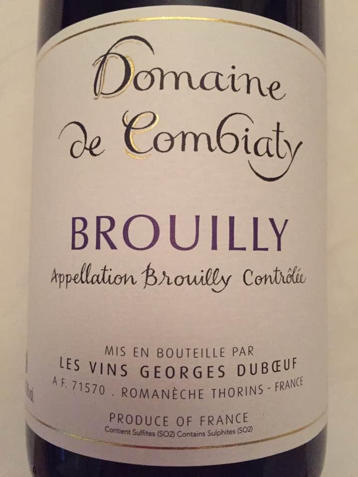 Domaine de Combiaty 2015 – Brouilly