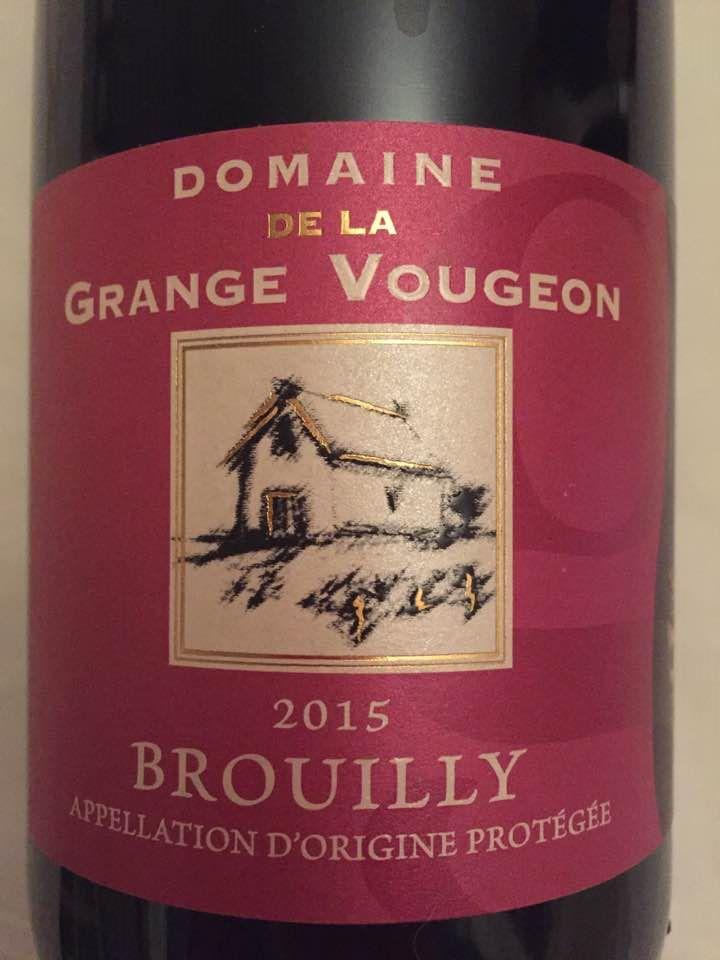 Domaine de la Grange Vougeon 2015 – Brouilly