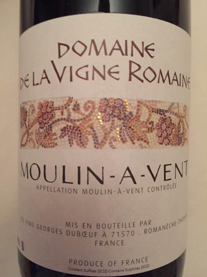 Domaine de la Vigne Romaine 2015 – Moulin-à-Vent