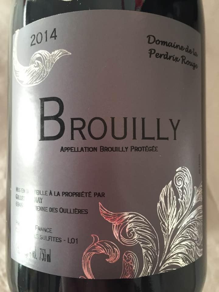 Domaine de la Perdrix Rouge 2014 – Brouilly