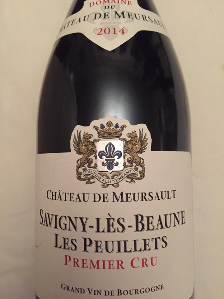 Domaine du Château de Meursault – Les Peuillets 2014 – Savigny-Lès-Beaume 1er cru