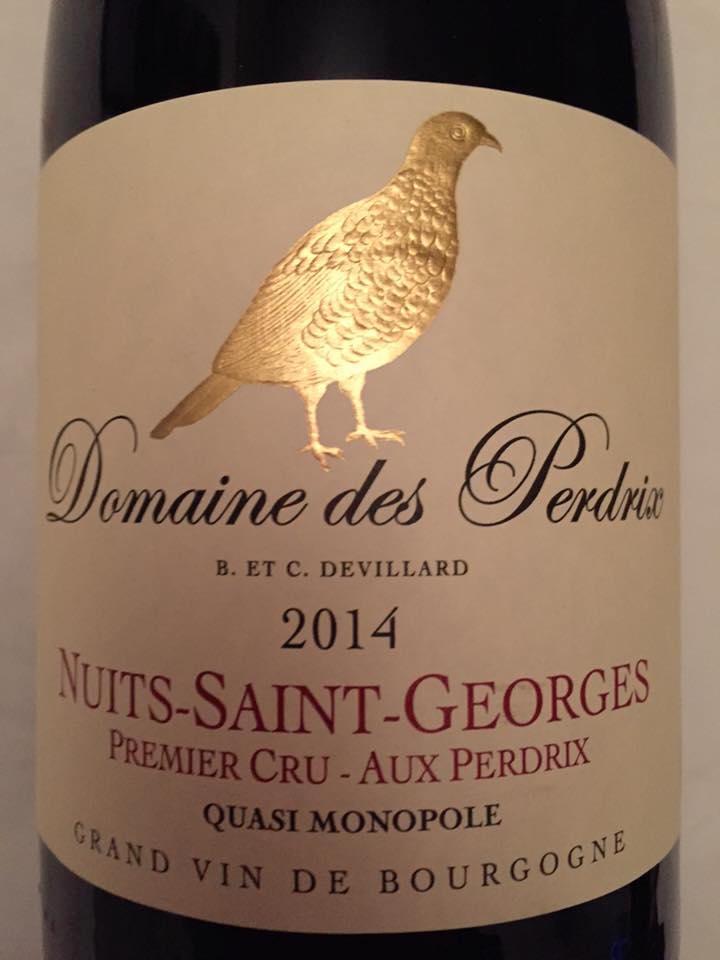 Domaine des Perdrix – Aux Perdrix 2014 – Nuits-Saint-Georges – Premier Cru