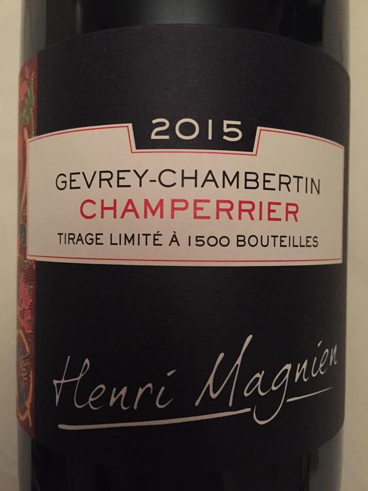 Henri Magnien – Champerrier 2015 – Gevrey-Chambertin