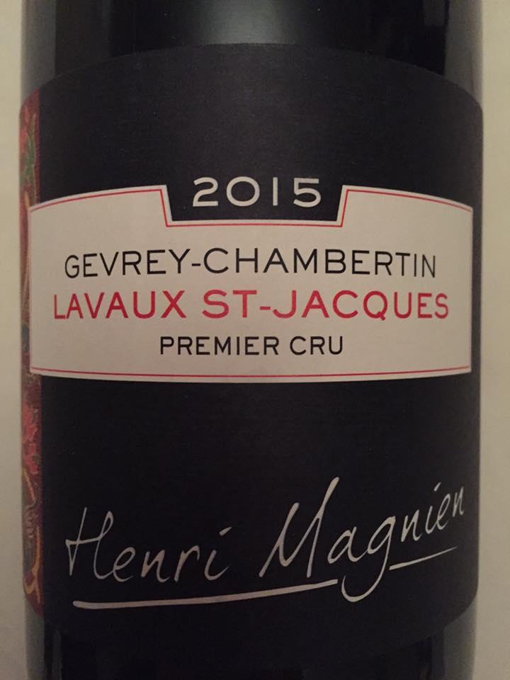 Henri Magnien – Lavaux St-Jacques 2015 – Gevrey-Chambertin– Premier Cru