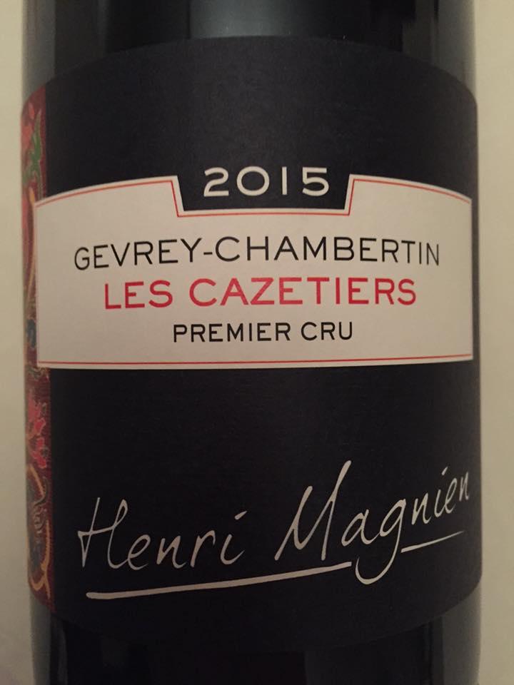 Henri-Magnien – Les Cazetiers 2015 – Gevrey-Chambertin – Premier Cru