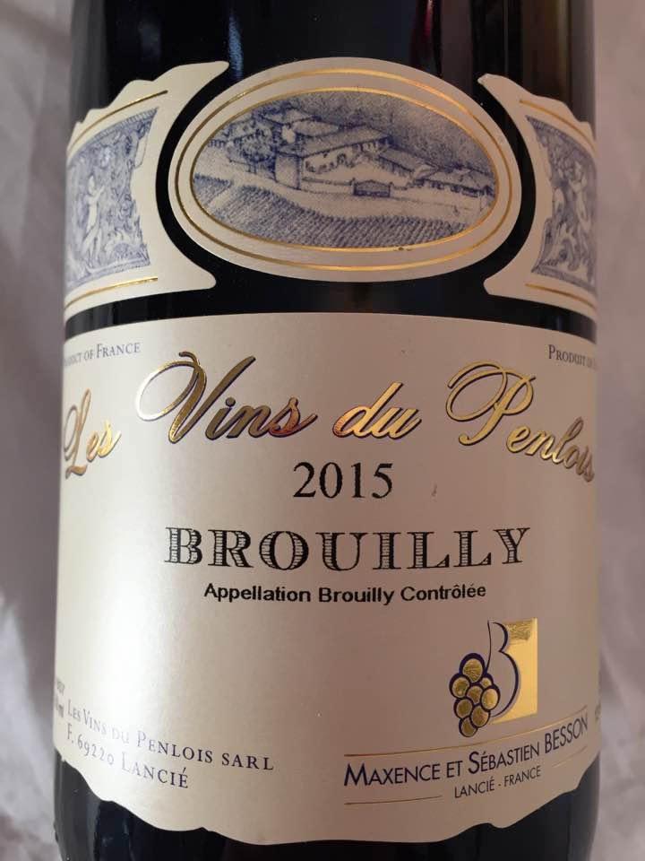 Les Vins du Penlois 2015 – Brouilly