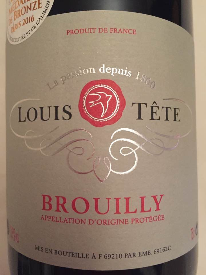 Louis Tête 2015 – Brouilly