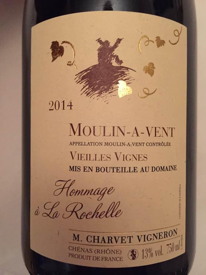 M. Charvet – Vieilles vignes 2014 – Moulin-à-Vent
