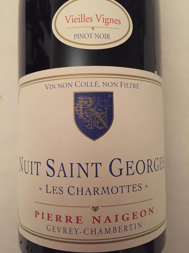 Pierre Naigeon – Les Charmottes 2015 – Vieilles Vignes – Nuits-Saint-Georges