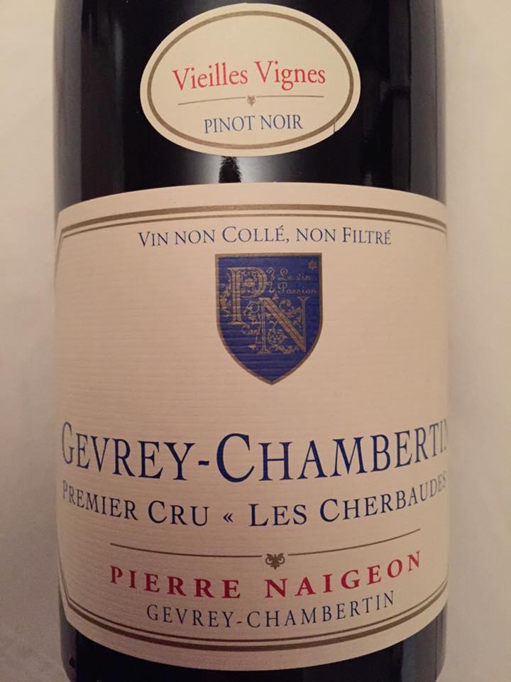 Pierre Naigeon – Vieilles Vignes 2015 – Les Cherbaudes – Gevrey-Chambertin– Premier Cru