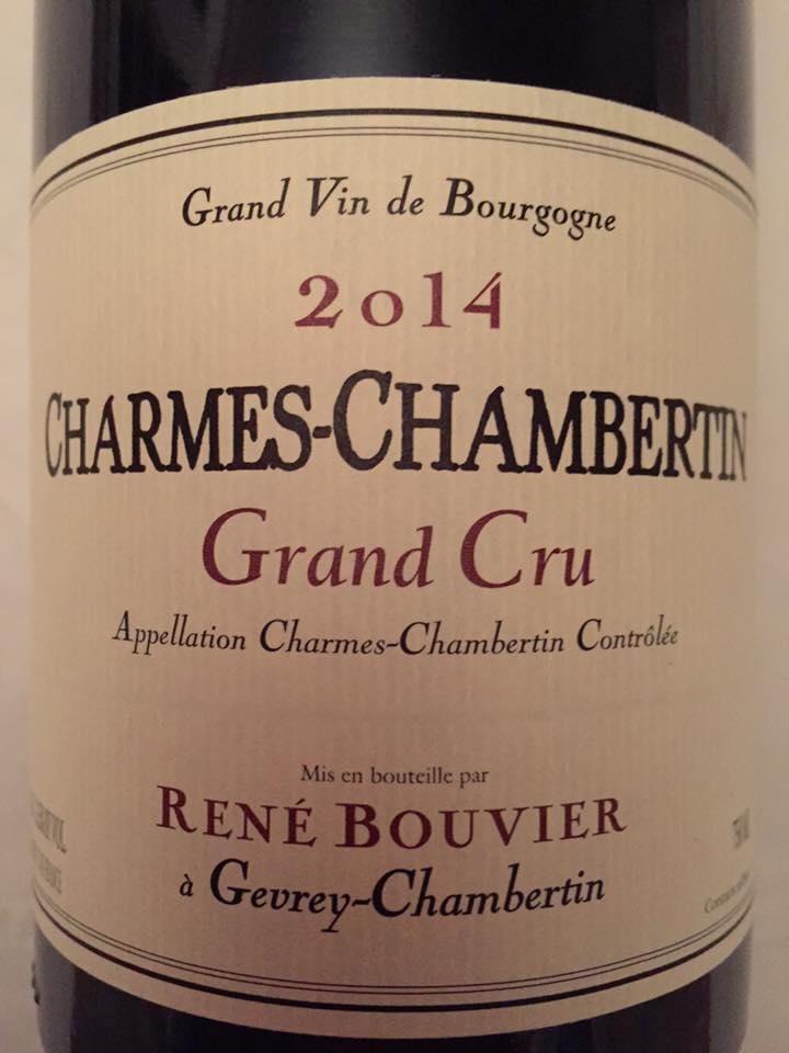 René Bouvier 2014 – Grand Cru – Gevrey-Chambertin
