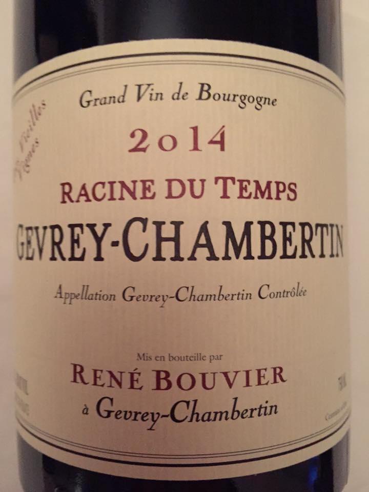 René Bouvier – Très Vieilles Vignes – Racine du Temps 2014 – Gevrey-Chambertin