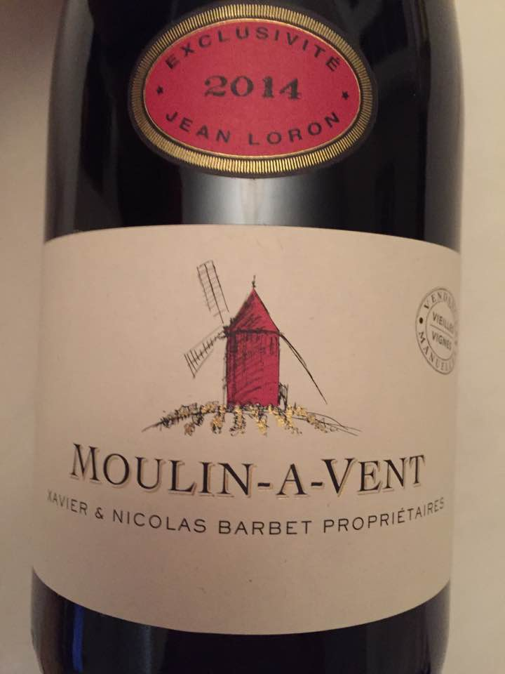 Xavier & Nicolas Barbet – Exclusivité Jean Loron – Vieilles Vignes 2014 – Moulin-à-Vent