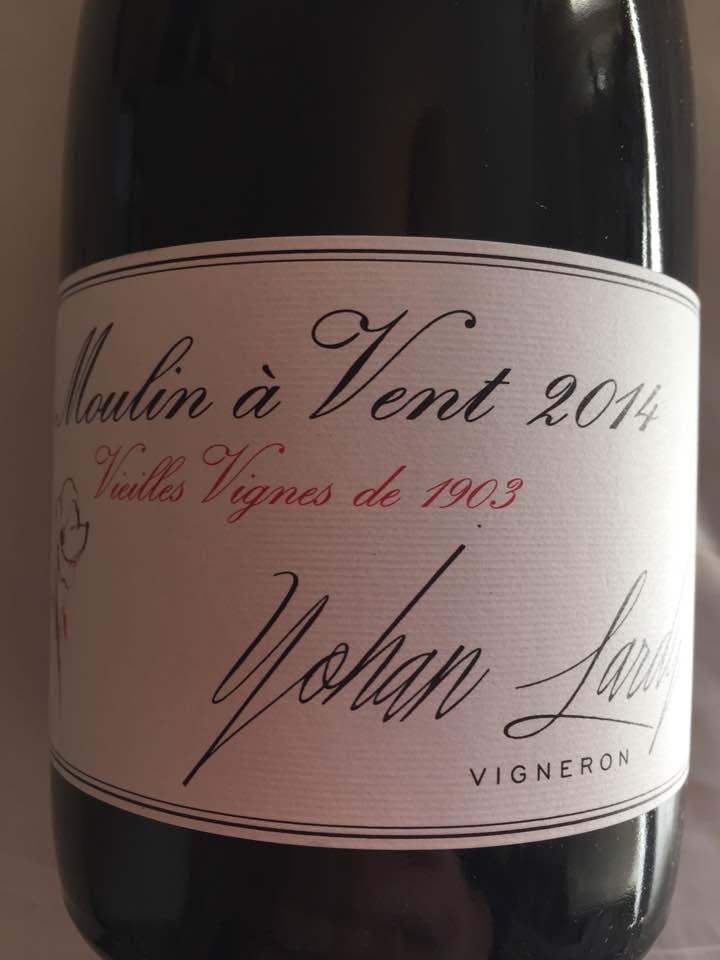 Yohan Lardy 2014 – Vieilles vignes de 1903 – Moulin à Vent