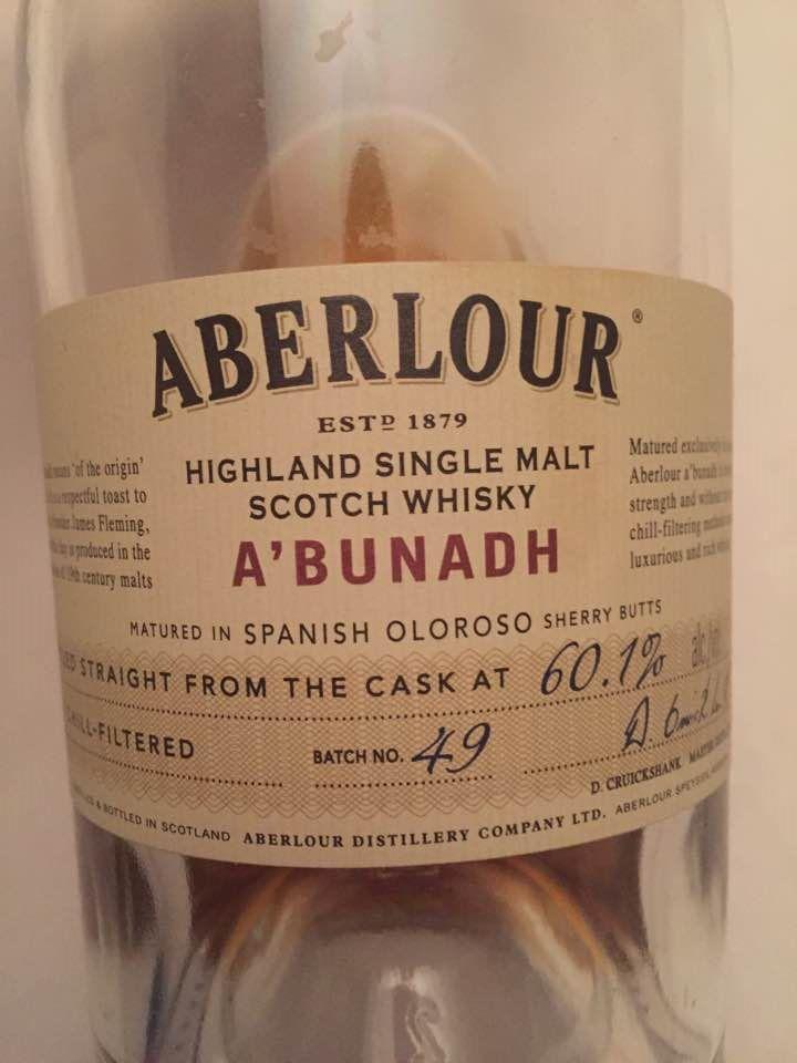 Aberlour – A'Bunadh – Batch N° 49 – Highland Single Malt Scotch Whiskey