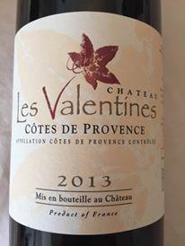 Château Les Valentines 2013 – Côtes de Provence