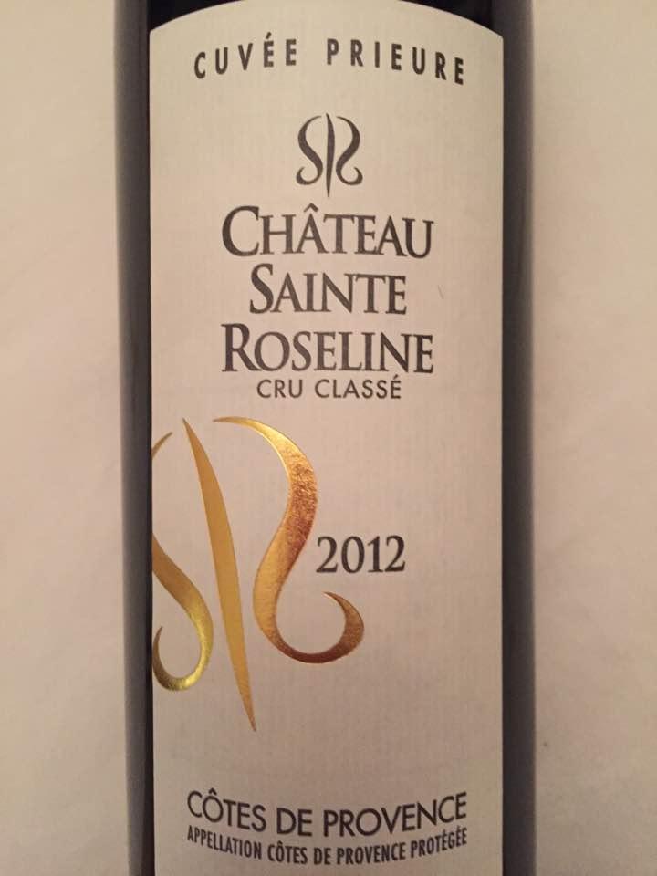 Château Sainte Roseline – Cuvée Prieure 2012 – Côtes de Provence – Cru Classé