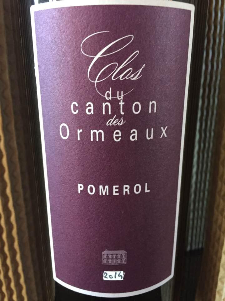 Clos du Canton des Ormeaux 2014 – Pomerol