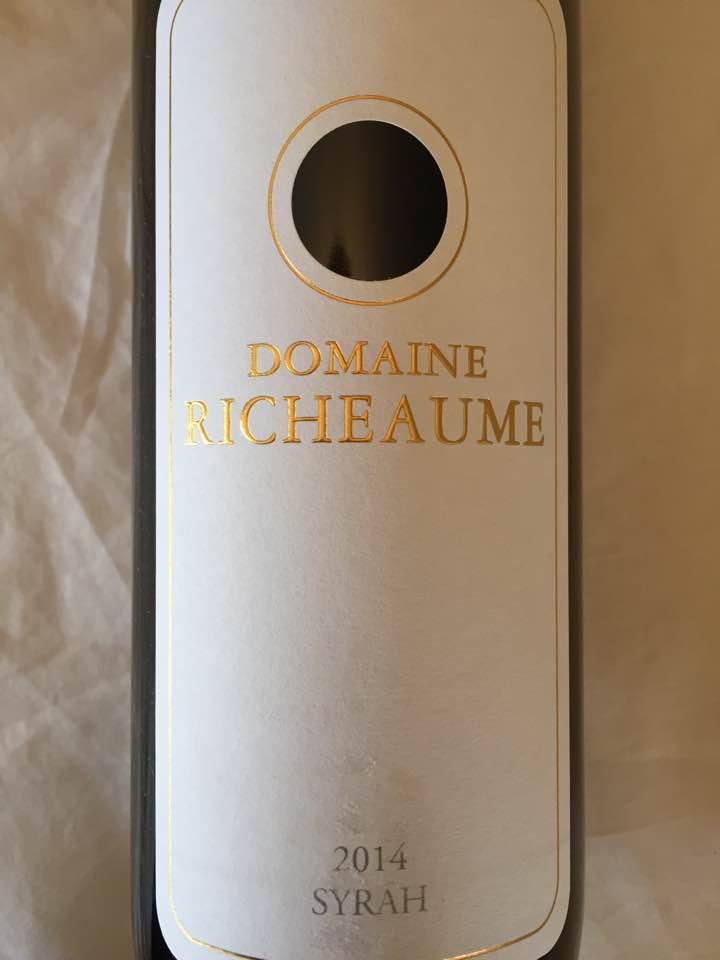 Domaine Richeaume – Syrah 2014 – IGP Méditerranée