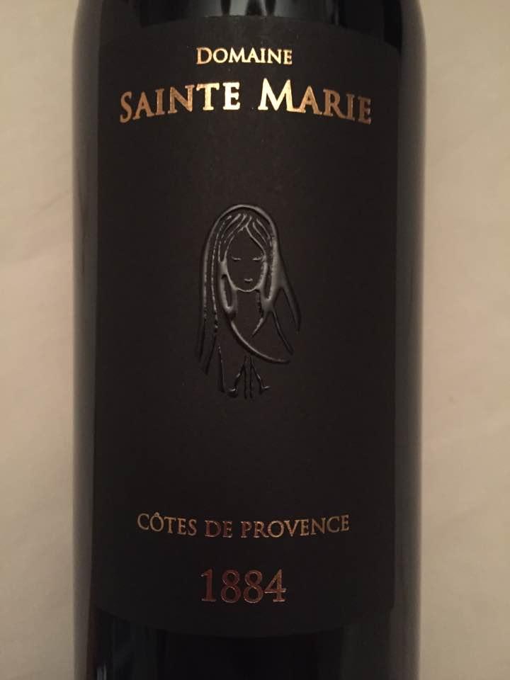 Domaine Sainte Marie – Cuvée 1884 millésime 2014 – Côtes de Provence