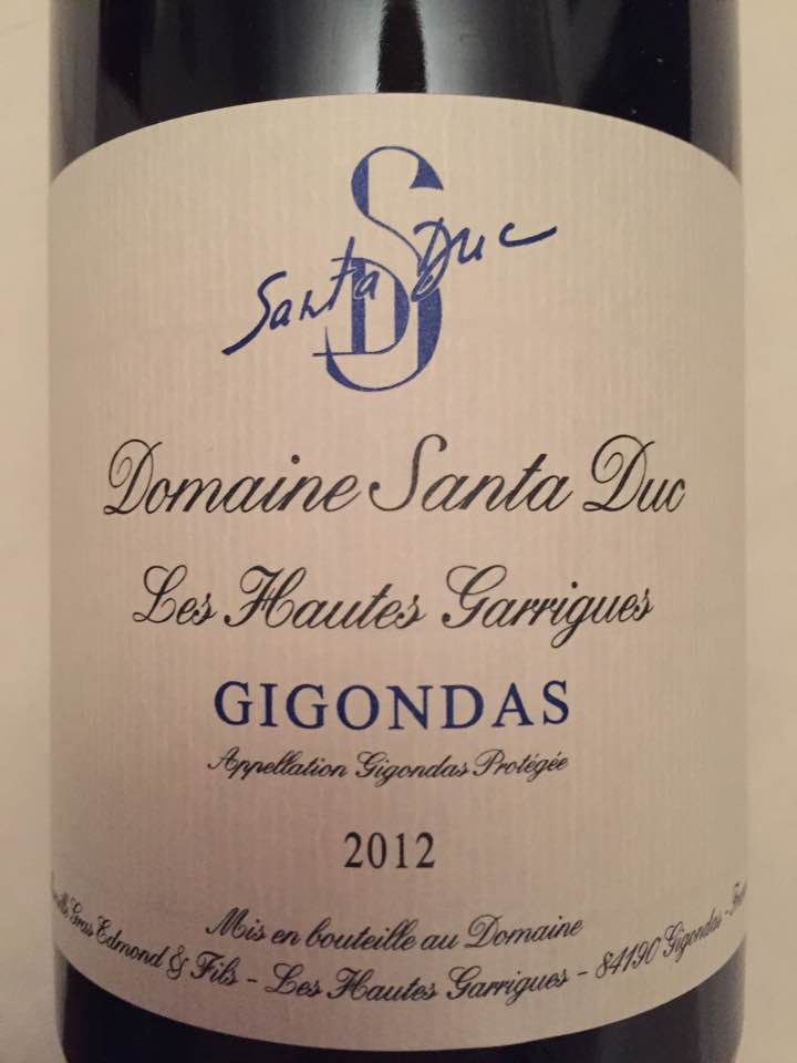 Domaine Santa Duc – Les Hautes Garrigues 2012 – Gigondas