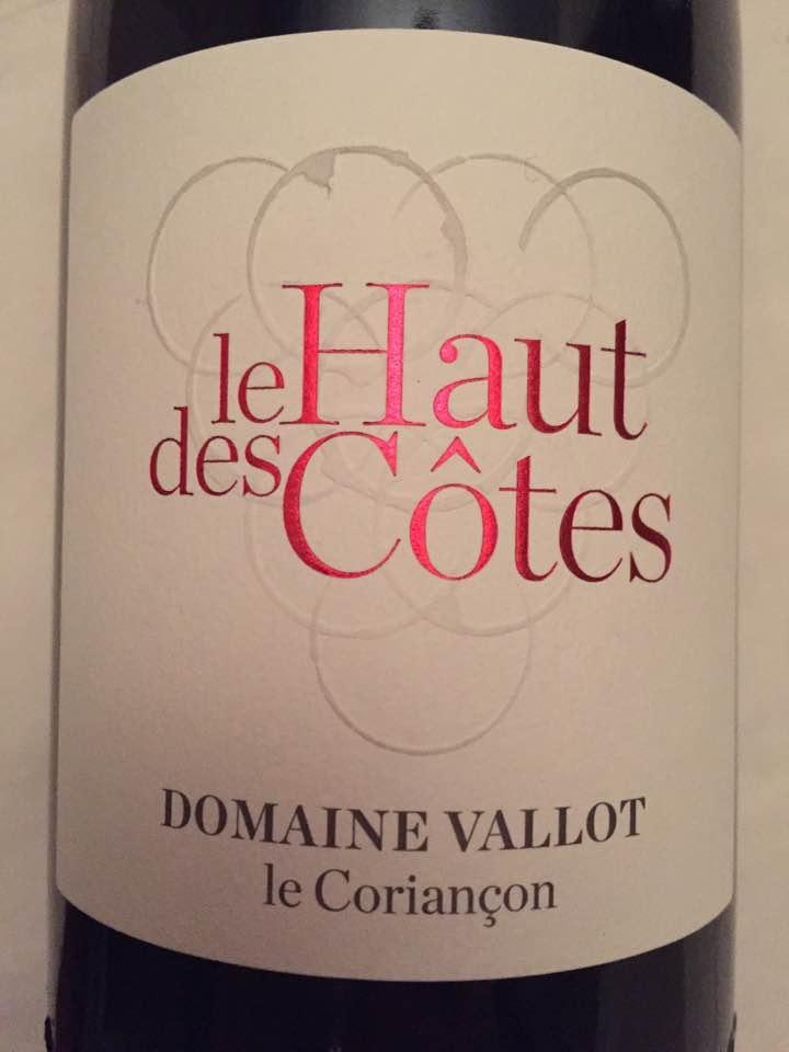 Domaine Vallot Le Coriançon – Le Haut des Côtes 2014 – Vinsobres