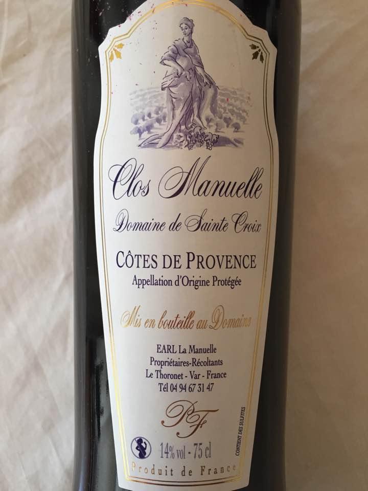Domaine de Sainte Croix – Clos Manuelle 2014 – Côtes de Provence
