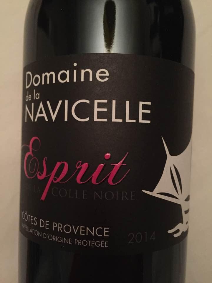 Domaine de la Navicelle – Esprit de la Colle Noire 2014 – Côtes de Provence