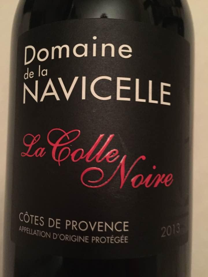 Domaine de la Navicelle – La Colle Noire 2013 – Côtes de Provence