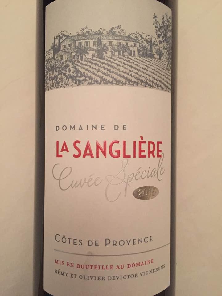 Domaine de la Sanglière – Cuvée Spéciale 2015 – Côtes de Provence