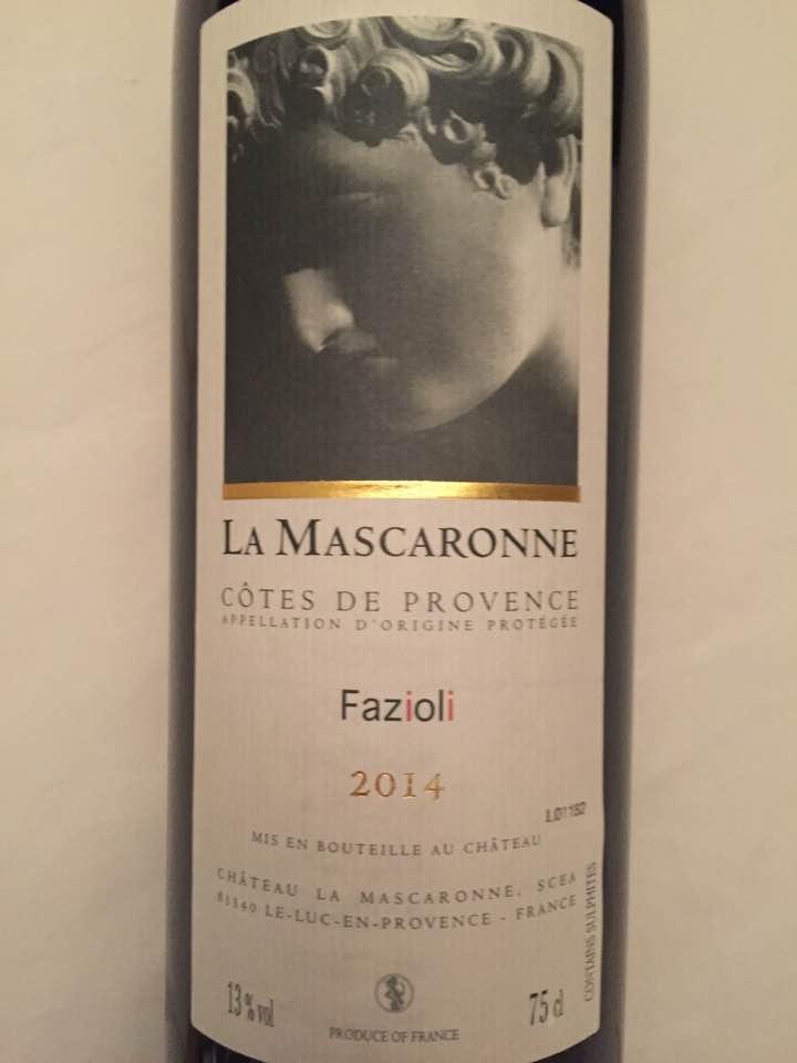La Mascaronne – Fazioli 2014 – Côtes de Provence