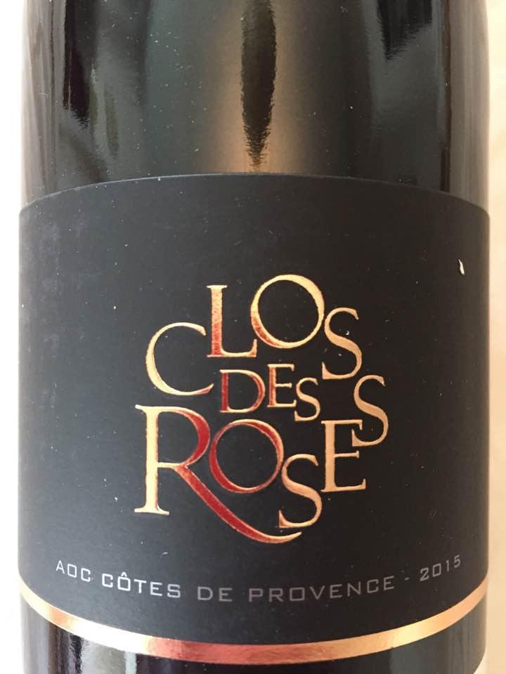 Le Clos des Roses 2015 – Côtes de Provence