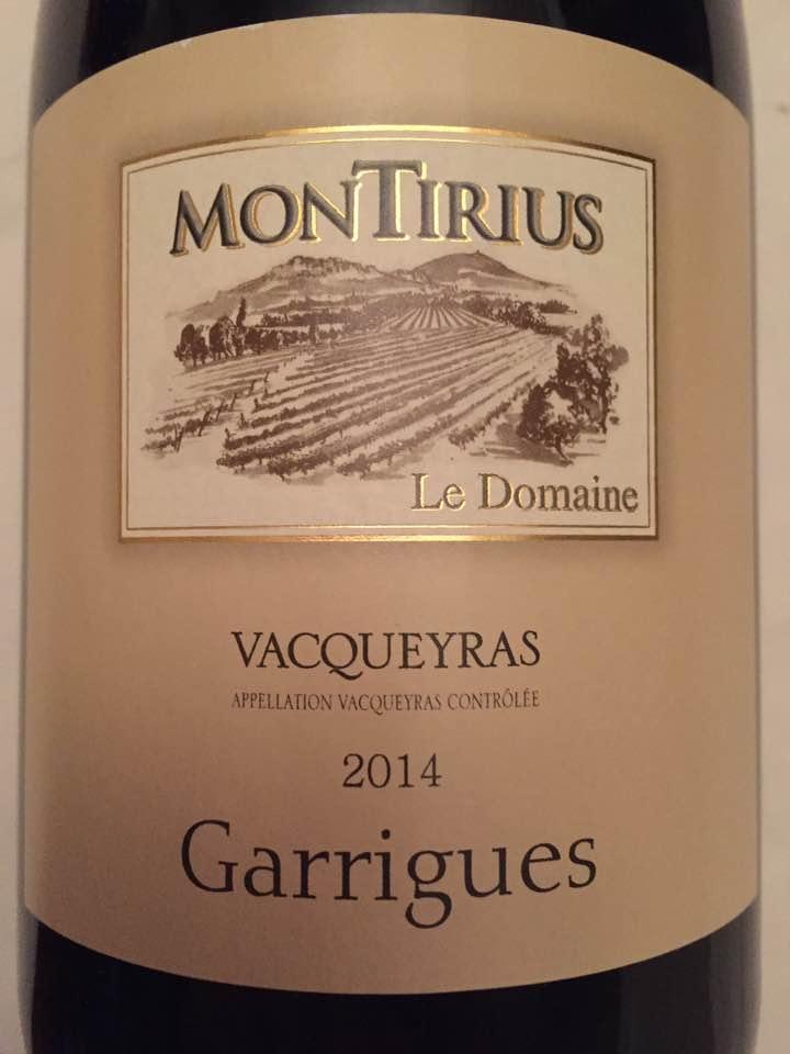 Le Domaine Montirius – Garrigues 2014 – Vacqueyras
