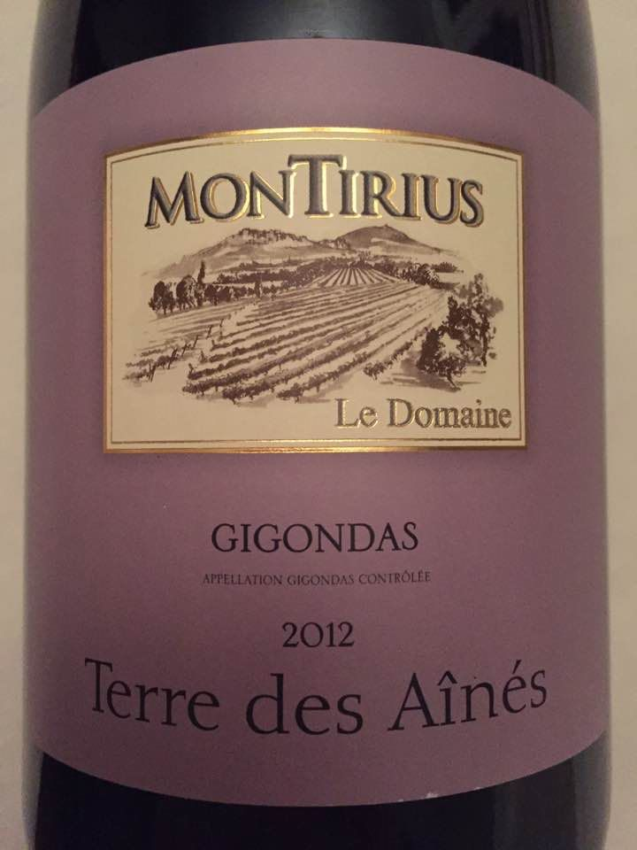 Le Domaine Montirius 2012 – Terre des Aînés – Gigondas