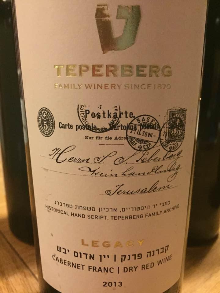Teperberg – Cabernet Franc 2013 – Legacy – Israël