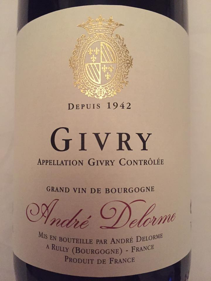 André Delorme 2015 – Givry