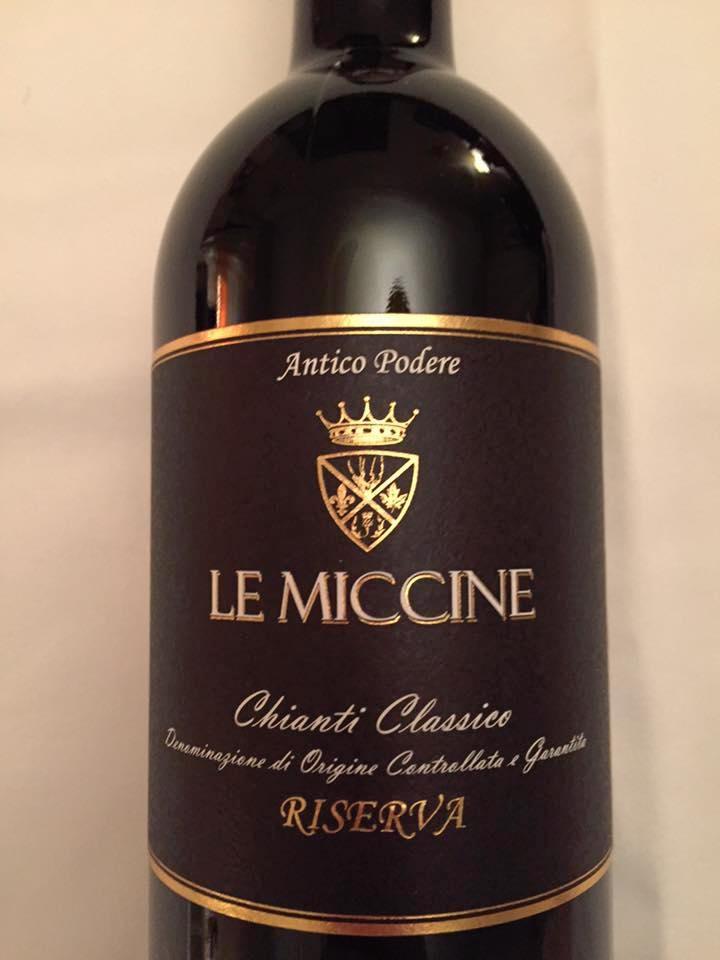 Antico Podere – Le Miccine 2013 – Chianti Classico Riserva