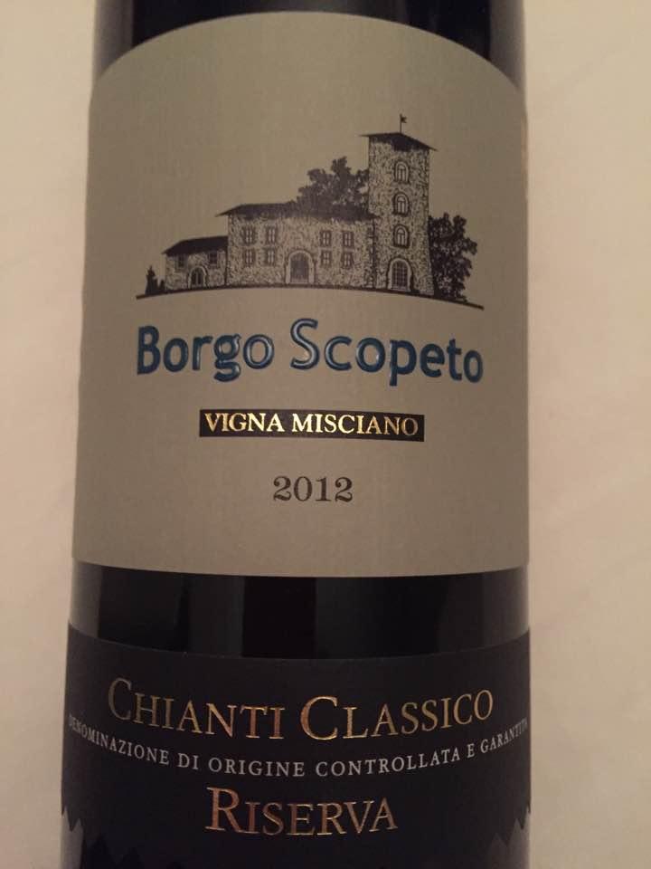 Borgo Scopeto – Vigna Misciano 2012 – Chianti Classico Riserva