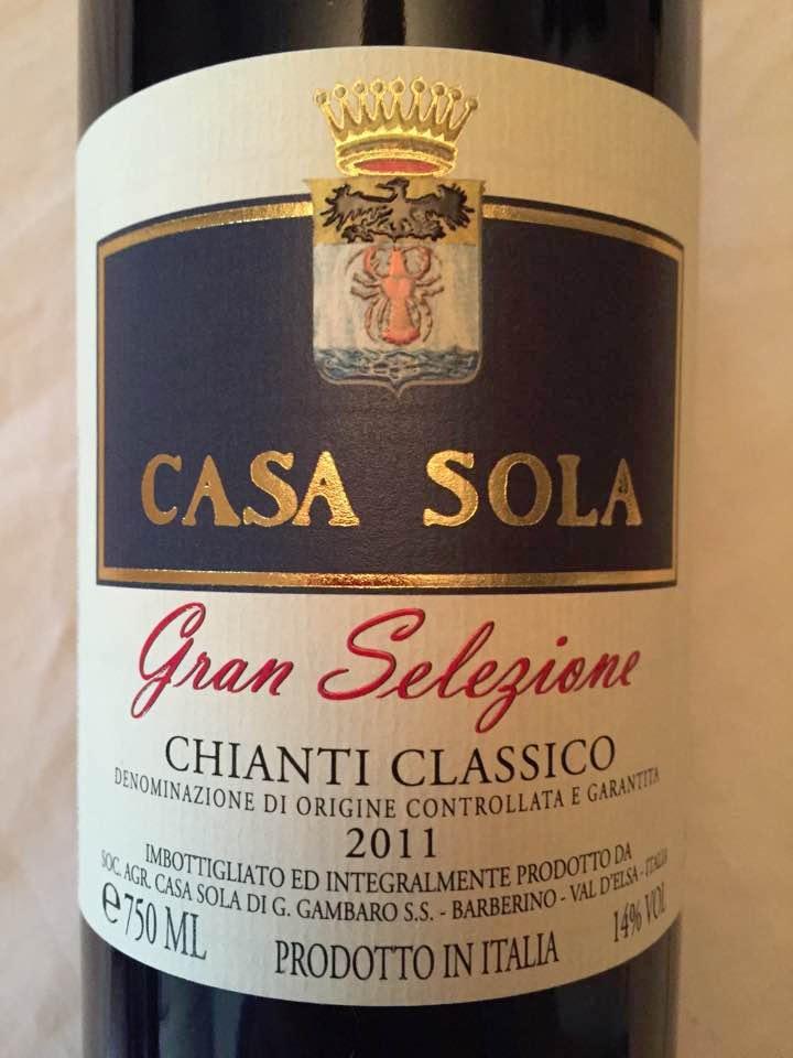 Casa Sola 2011 – Chianti Classico Gran Selezione