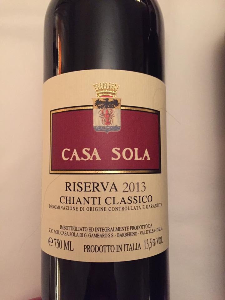 Casa Sola 2013 – Chianti Classico Riserva