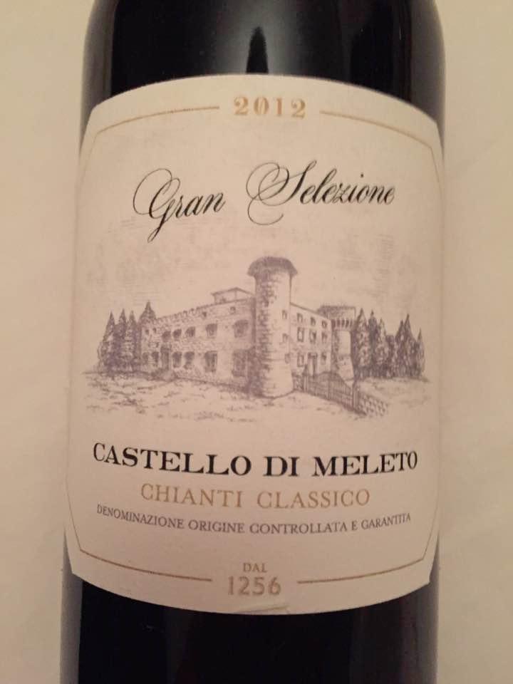 Castello di Meleto 2012 – Chianti Classico Gran Selezione