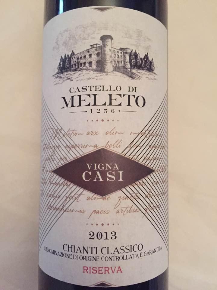 Castello di Meleto – Vigna Casi 2013 – Chianti Classico Riserva