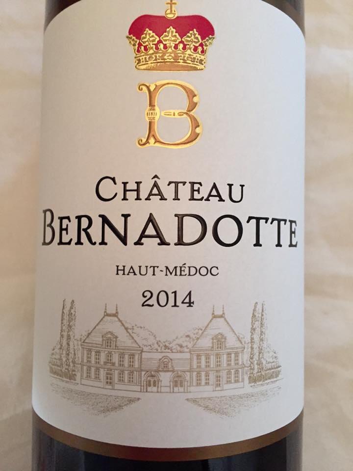 Château Bernadotte 2014 – Haut-Médoc – Cru Bourgeois
